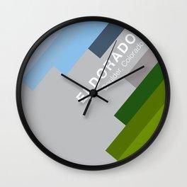 The colors of climbing spots - ELDORADO CANYON Wall Clock