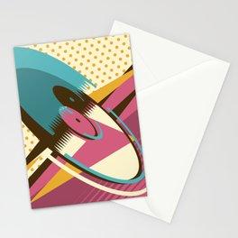 Retro Vinyl Stationery Cards