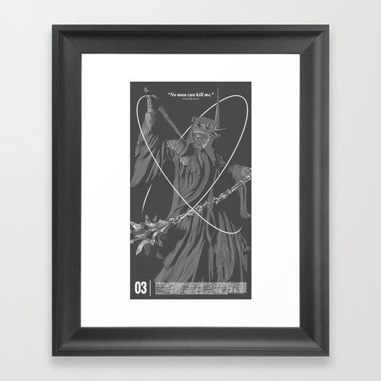 No Man Can Kill Me... Framed Art Print