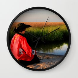 Watercolor People in Nature, BS, Children 03, Janes Island, Maryland Wall Clock