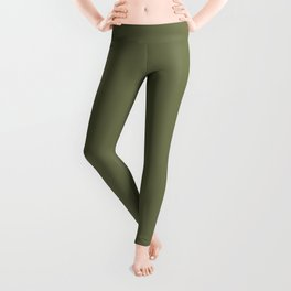 Pine Needle Green Solid Color Pairs With Behr Paint's 2020 Forecast Trending Color Secret Meadow Leggings