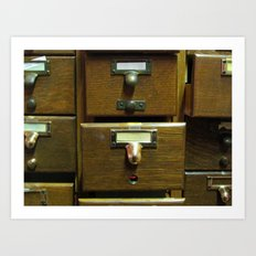 Used Card Catalog (Full of Toys) Art Print