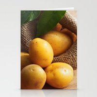 potato Stationery Cards featuring potato sack by Tanja Riedel