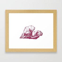 Heart Under Construction Framed Art Print