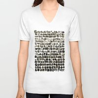 hogwarts V-neck T-shirts featuring HOGWARTS QUOTES by September 9