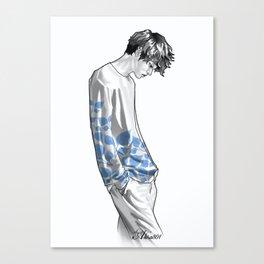 FLOWER BOY TWO: BLUE Canvas Print