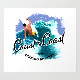 Surfing Cost to Cost Cutbc Art Print