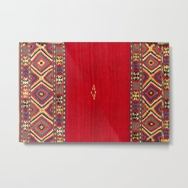 Fethiye Southwest Anatolian Kilim Print Metal Print