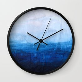All good things are wild and free - Ocean Ombre Painting Wall Clock