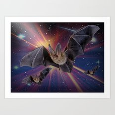 Bat Express. Art Print