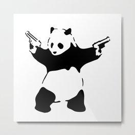 Panda, Banksy, Graffitti Metal Print