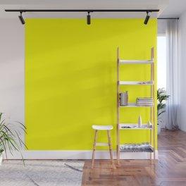 Bright Fluorescent Yellow Neon Wall Mural