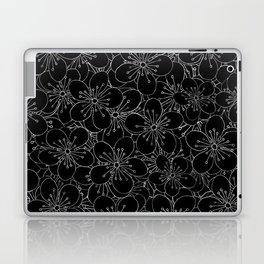 Cherry Blossom Black on White - In Memory of Mackenzie Laptop & iPad Skin