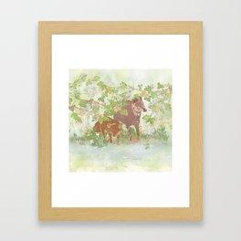 A day in the rain | Miharu Shirahata Framed Art Print