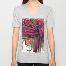The Corsage- Fantasy Floral  Unisex V-Neck