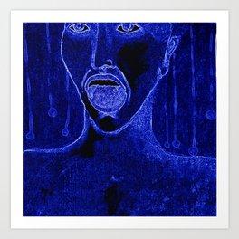 el grito azul Art Print