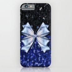 Brilliant Black and Blue  Slim Case iPhone 6