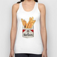 fries Tank Tops featuring Fries by Sara Eshak