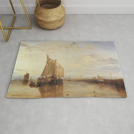 The Dort Packet-Boat from Rotterdam J. M. W. Turner Rug