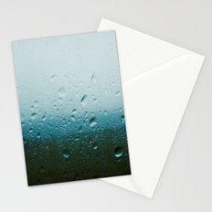 teardrops of rain Stationery Cards
