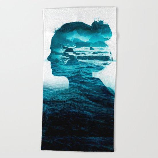 The Sea Inside Me Beach Towel