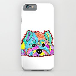Cotton Candy Dots Westie West Highland Dog Pet Terrier Scottish Scotland Cairn Border Glen Fox Kerry iPhone Case