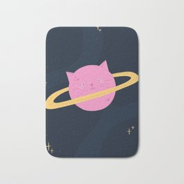 Planet cat-urn Bath Mat