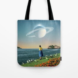 Watching Planets Tote Bag