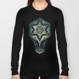 Sacred Geometry for your daily life- SRI YANTRA Long Sleeve T-shirt