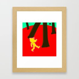 Drunk bear about to be abducted Framed Art Print