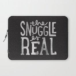 Snuggle is real - black Laptop Sleeve