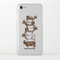 Cow Cow Nuts Clear iPhone Case