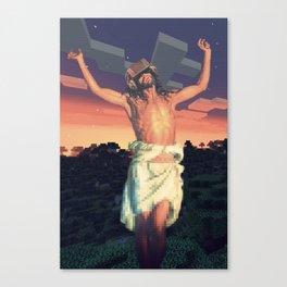 Jesus Experiencing VR Canvas Print
