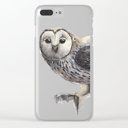 Strix Ural Owl Clear iPhone Case