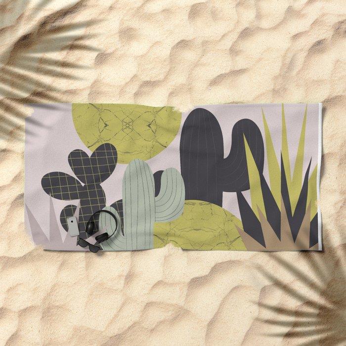 Cacti Beach Towel