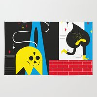 ghost Area & Throw Rugs featuring Ghost by Dr ponce