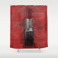 i woke up like this Shower Curtains featuring Flawless (I Woke Up Like This) by Pixels and Paper