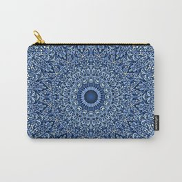 Sacred Blue Garden Mandala Carry-All Pouch