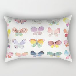 Painted butterflies Rectangular Pillow