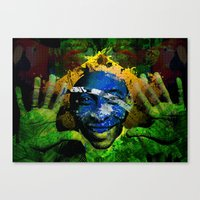 brasil Canvas Prints featuring Brasil by detectivesinc