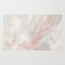 Softest blush pink marble Rug