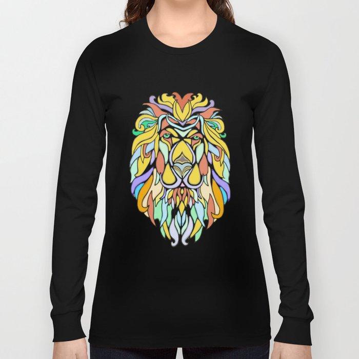 Metallic Lion Long Sleeve T-shirt