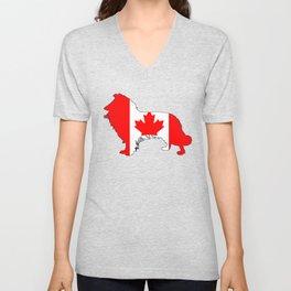Canada Border Collie Unisex V-Neck