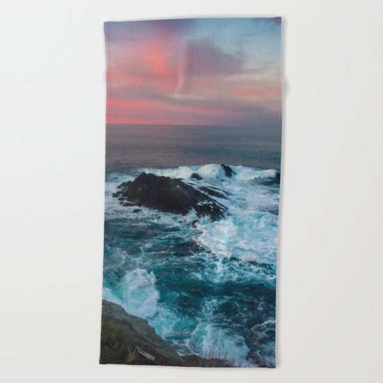 Sunset on the Bay of Biscay Beach Towel