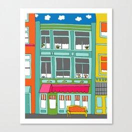 Colorful Building by Emma Freeman Designs Canvas Print