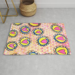 flowers and hearts Rug