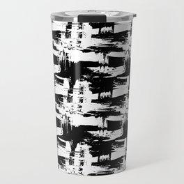 Black Texture of brush strokes Travel Mug