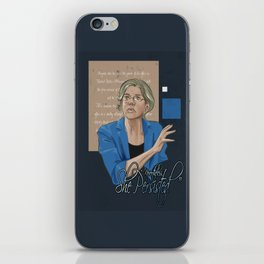"""Nevertheless, She Persisted"" iPhone Skin"