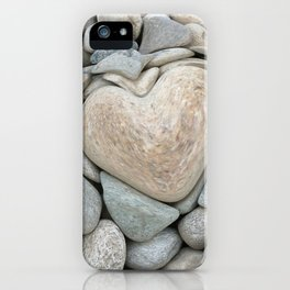 heart love stones in the quarry iPhone Case