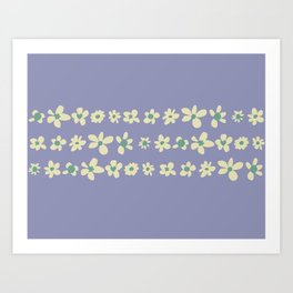 Daisy Chain in Dusty Violet Art Print